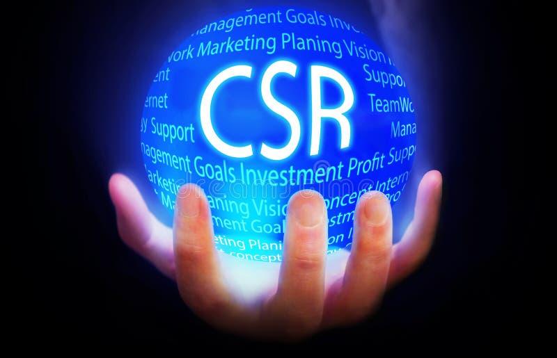 Cor azul do plano do fundo do globo do CSR ilustração stock