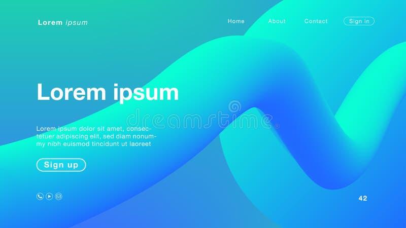 Cor azul do verde do sumário do fundo para o homepage ilustração do vetor