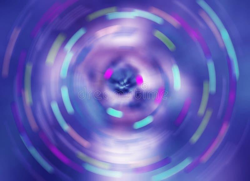 a cor azul que gira o fundo abstrato do borrão de movimento da velocidade, gerencie o teste padrão borrado rotação imagens de stock