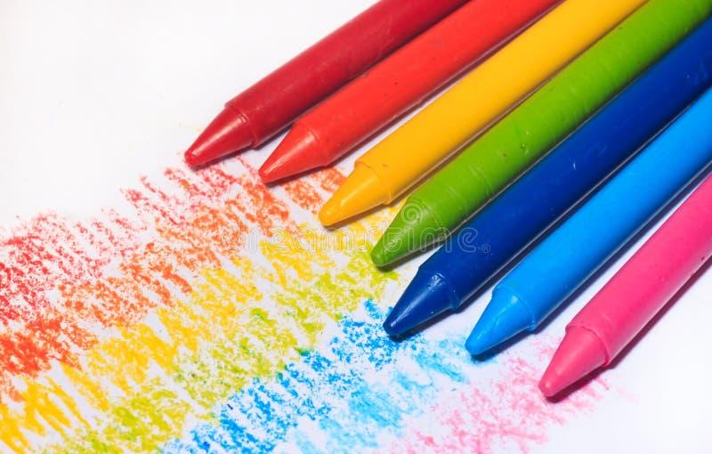 Cor colorida do pastel do arco-íris para crianças imagens de stock royalty free