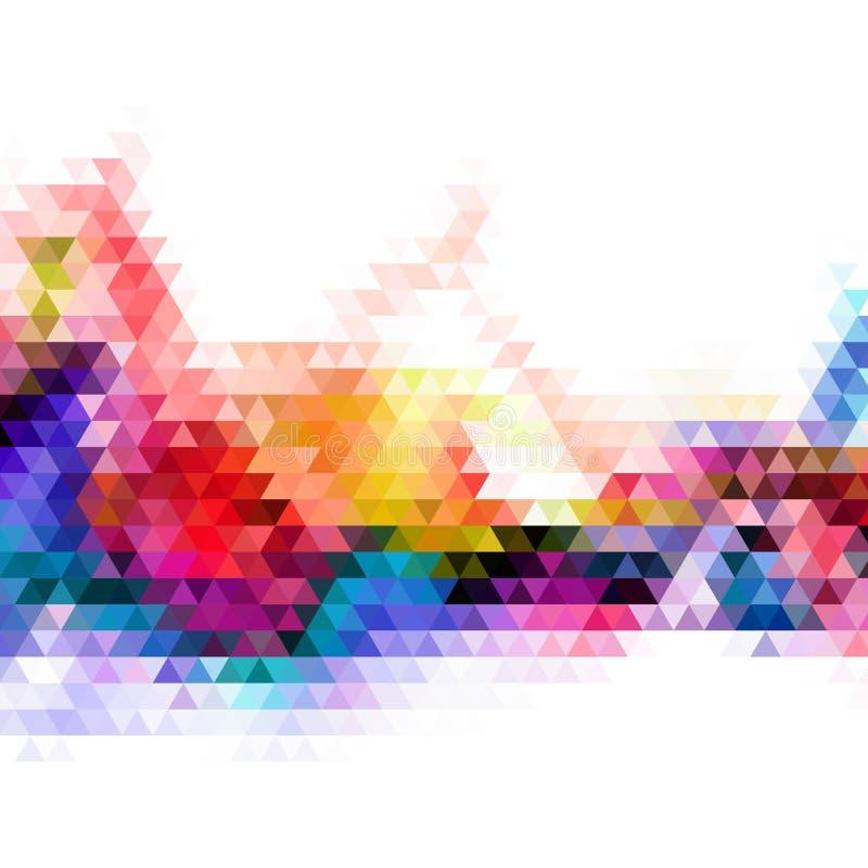 Cor completa dos fundos geométricos abstratos Ilustração geométrica colorida Gráficos de vetor Estilo poligonal ilustração royalty free