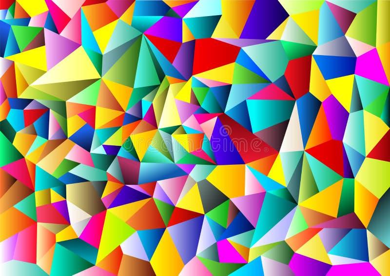Cor completa dos fundos geométricos abstratos Projeto poligonal do molde Ilustração do vetor ilustração stock