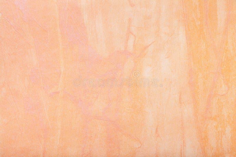 Cor coral clara do fundo da arte abstrato Pintura multicolorido na lona foto de stock