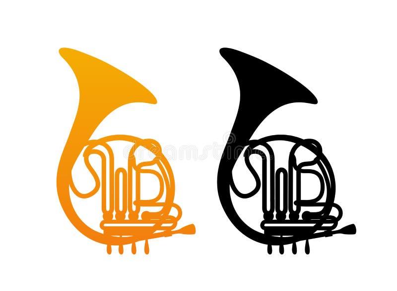 Cor d'harmonie d'or illustration de vecteur