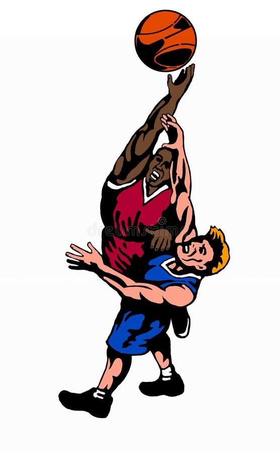 Cor da esfera de salto do basquetebol ilustração do vetor