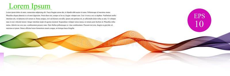 Cor da onda do espectro Fundo ondulado abstrato do vetor, linhas acenadas coloridas para o folheto, Web site, projeto do inseto O ilustração royalty free