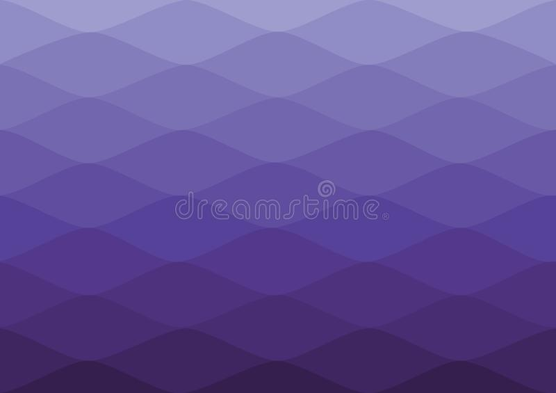 Cor da onda da gradação para o papel de parede Fundo da gradação foto de stock