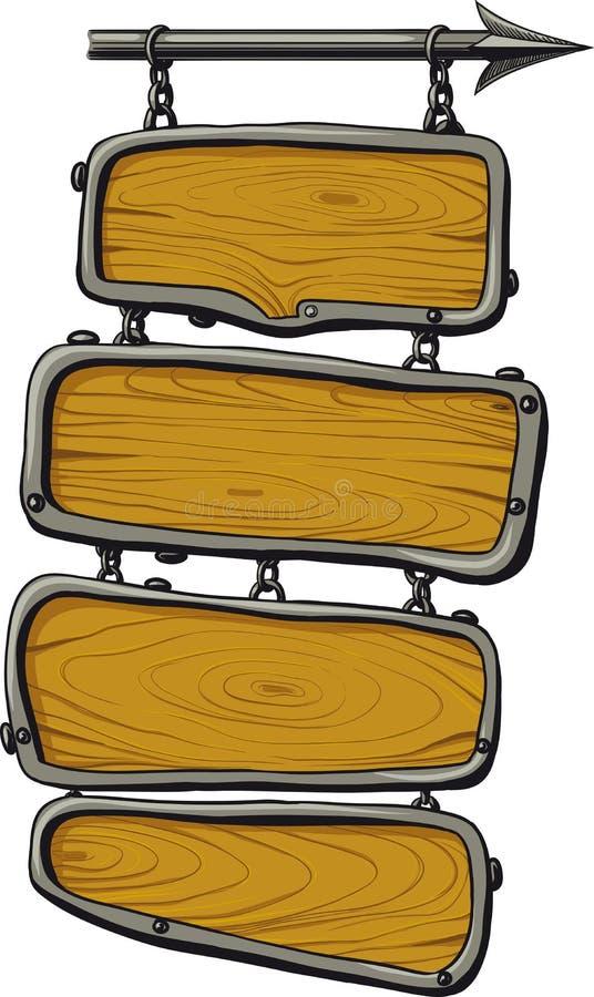 Cor das placas de madeira ilustração do vetor