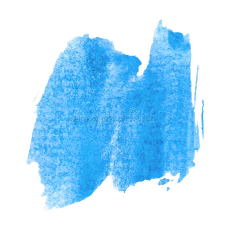 Cor de água azul molhada ilustração stock