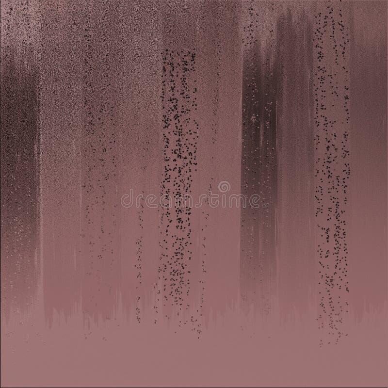 A cor de bronze com amostras de folha do brilho projeta Cor metálica granulado dispersada no fundo vibrante Projeto textured da t foto de stock royalty free