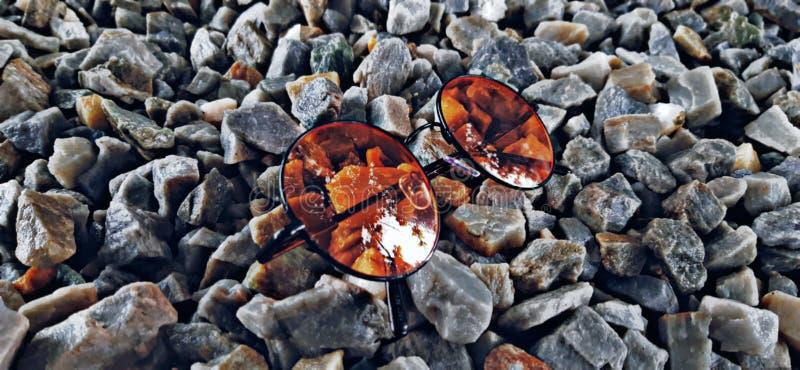 Cor de laranja de vidro solar fotografia de stock royalty free
