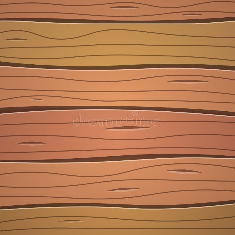 Cor de madeira de Brown da textura ilustração do vetor