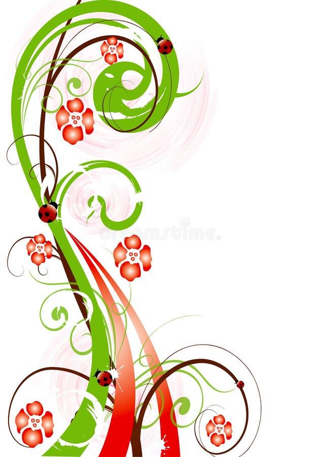 Cor-de-rosa abstrata g da mola da flor da ilustração da flor ilustração do vetor