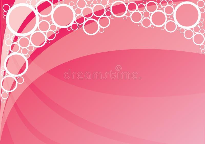 A cor-de-rosa borbulha fundo ilustração do vetor