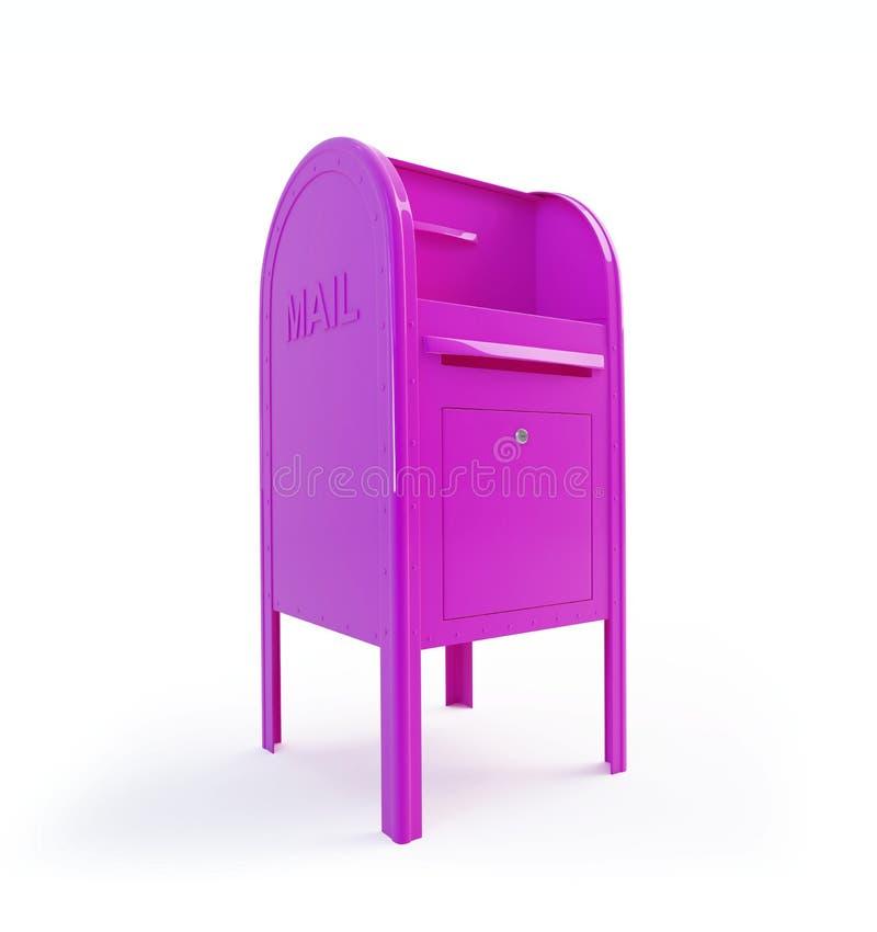 Cor-de-rosa da caixa postal ilustração do vetor