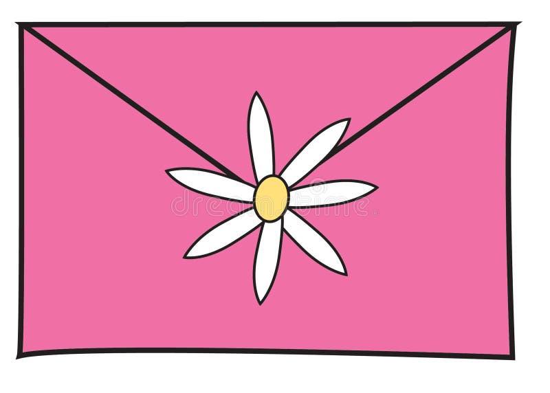 Cor-de-rosa da letra ilustração stock