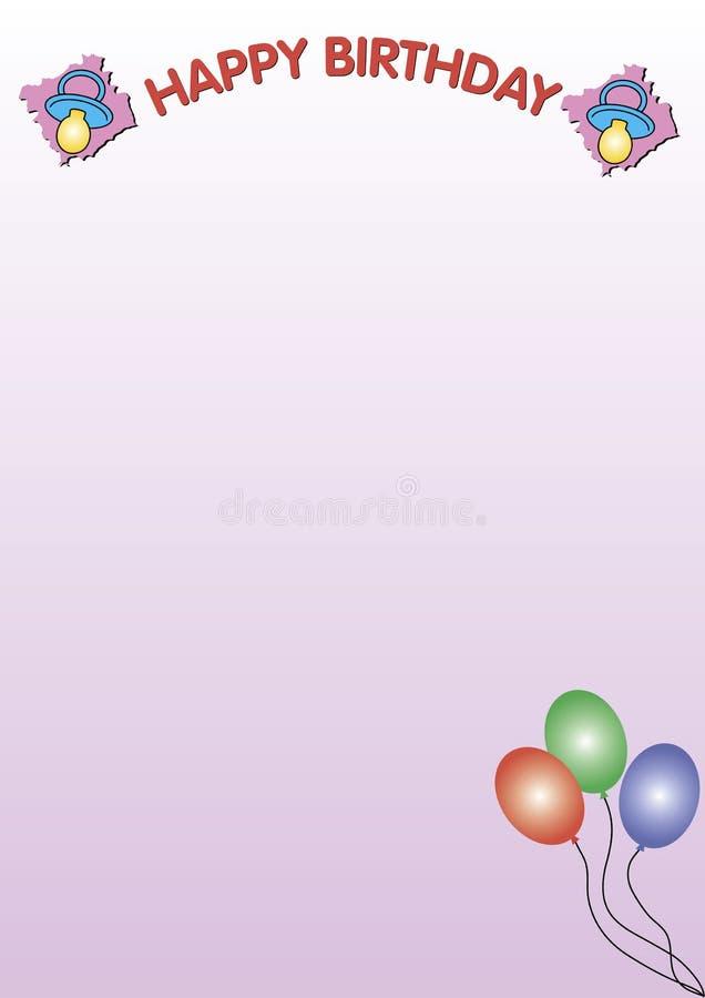 Cor-de-rosa do feliz aniversario ilustração royalty free