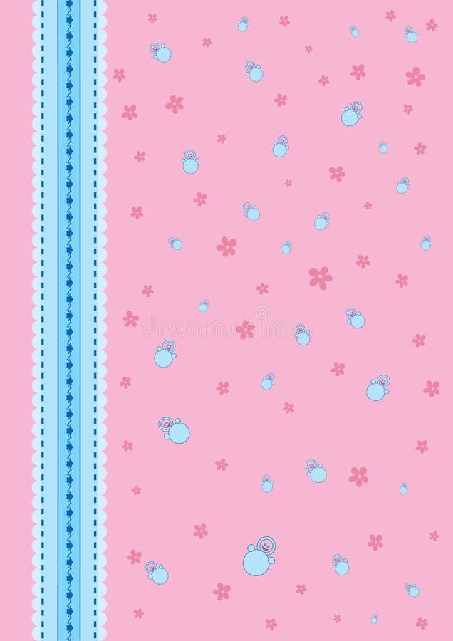 Cor-de-rosa do fundo do bebê fotografia de stock
