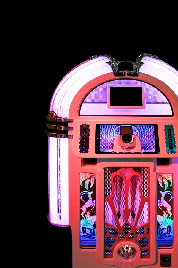 Cor-de-rosa do jukebox fotografia de stock