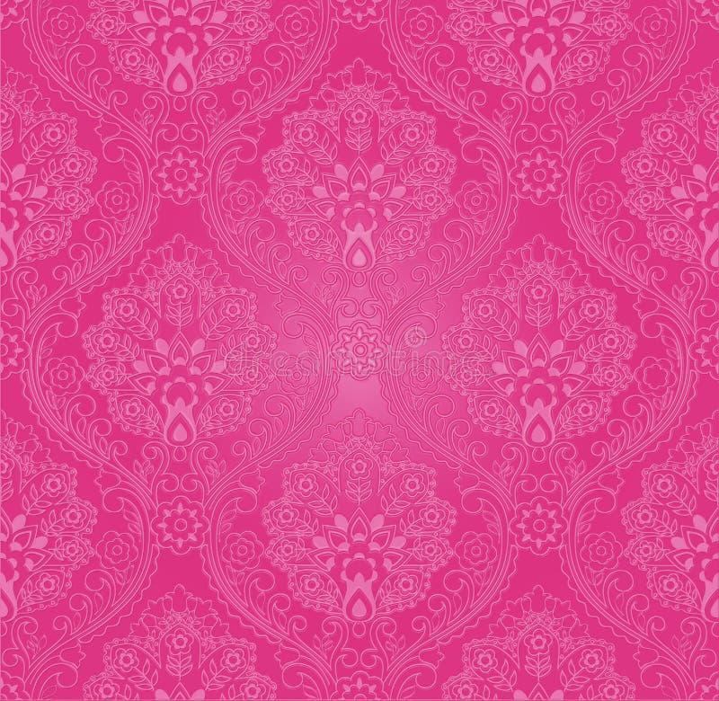 Cor-de-rosa do papel de parede ilustração stock