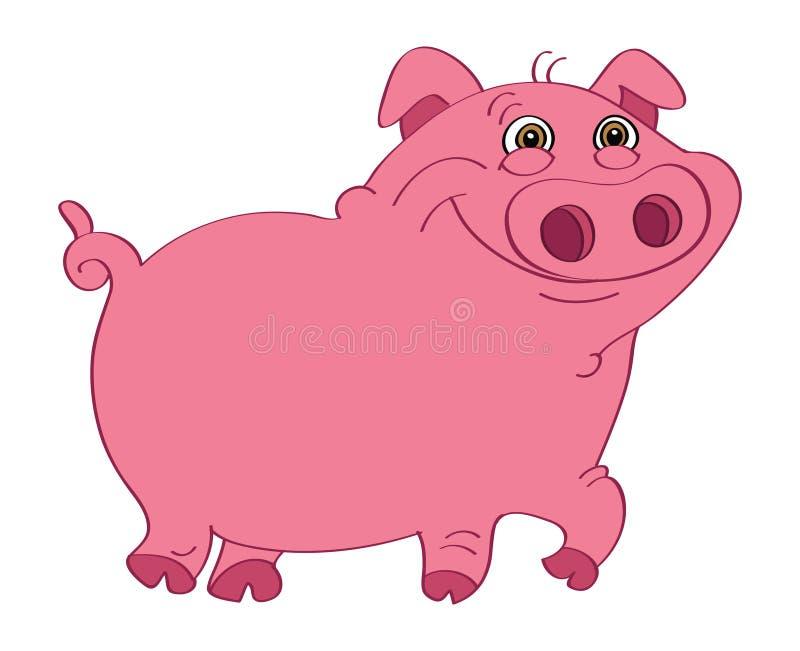 Cor-de-rosa do porco ilustração do vetor
