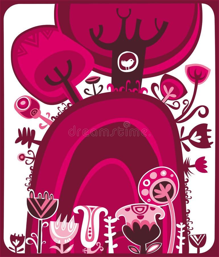 Cor-de-rosa do Valentim ilustração stock