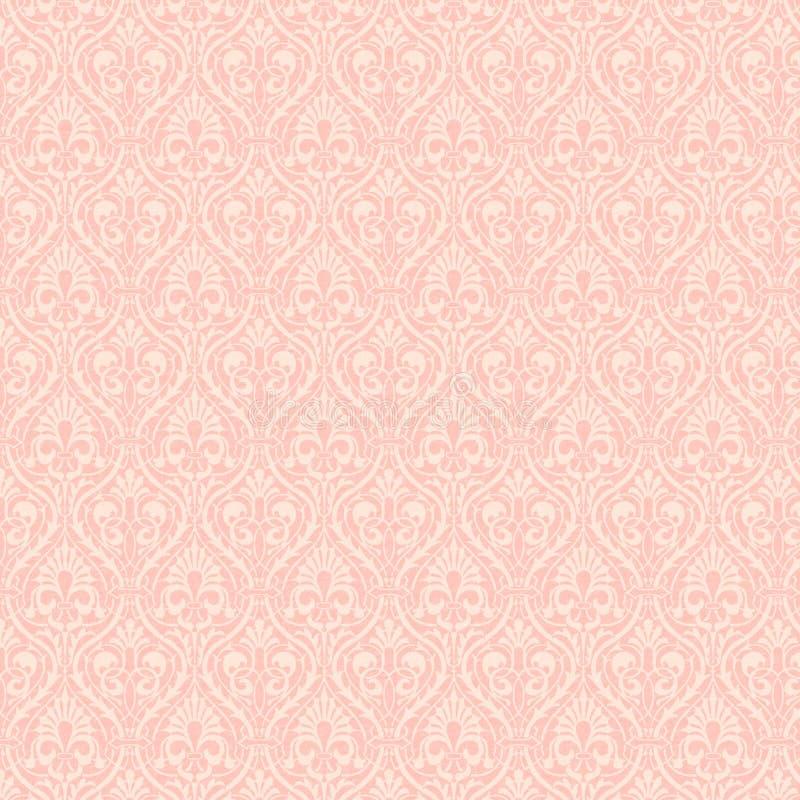 Cor-de-rosa do Victorian do fundo fotos de stock
