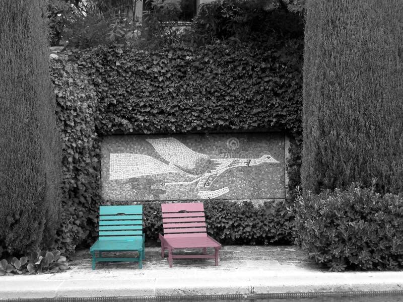 Cor-de-rosa E Azul Foto de Stock
