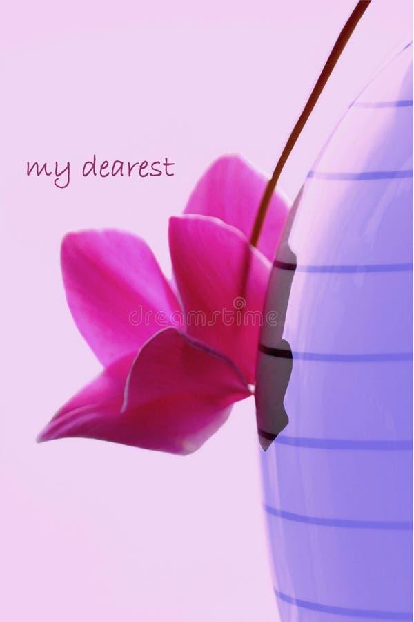 Cor-de-rosa expressão-borrada amor e azul ilustração do vetor