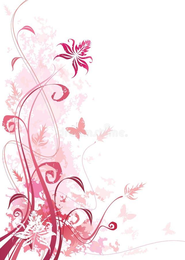 Cor-de-rosa floral ilustração do vetor