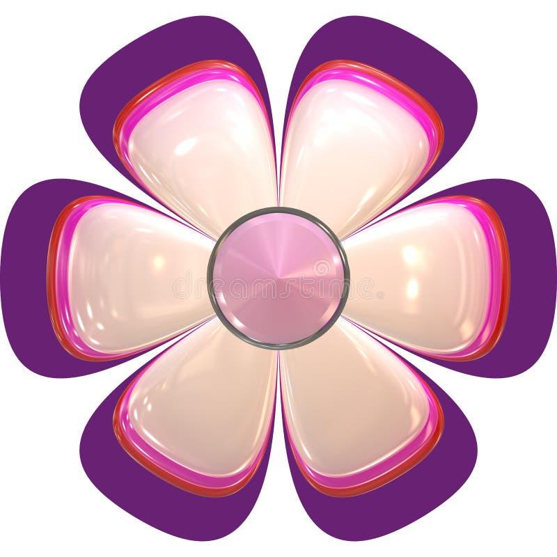 Cor-de-rosa grande do sumário da flor ilustração royalty free