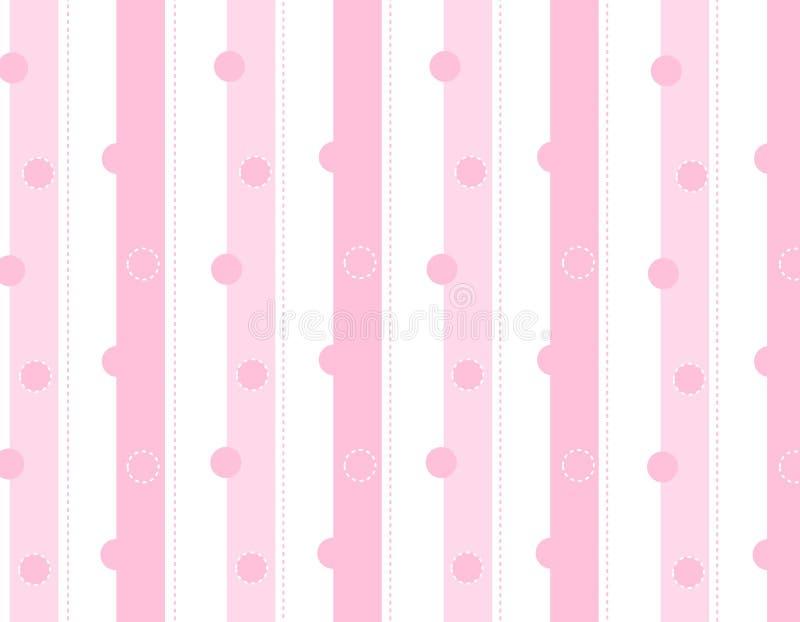A cor-de-rosa listra o fundo ilustração do vetor