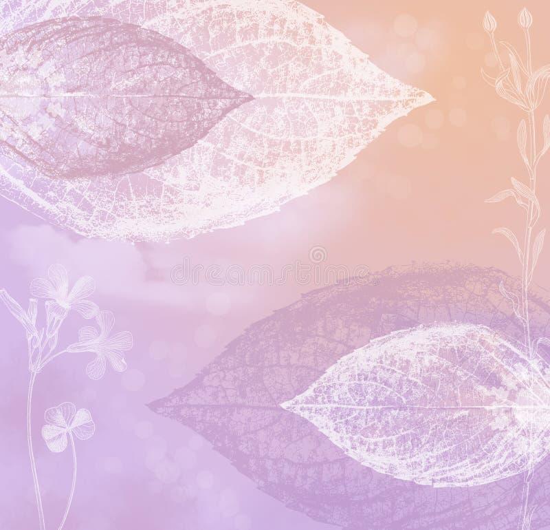 Cor-de-rosa Pastel e fundo do lilac ilustração royalty free