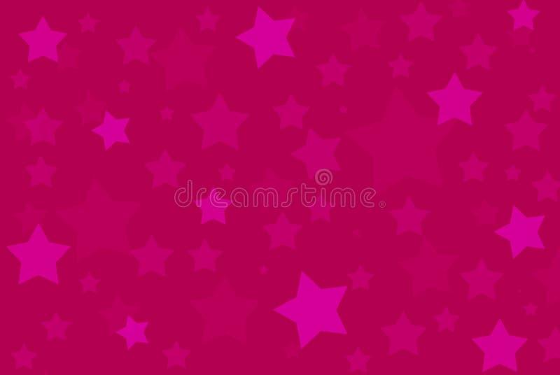 A cor-de-rosa stars o teste padrão do fundo ilustração royalty free