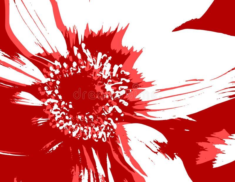 Cor-de-rosa vermelha da textura da flor do vetor ilustração royalty free