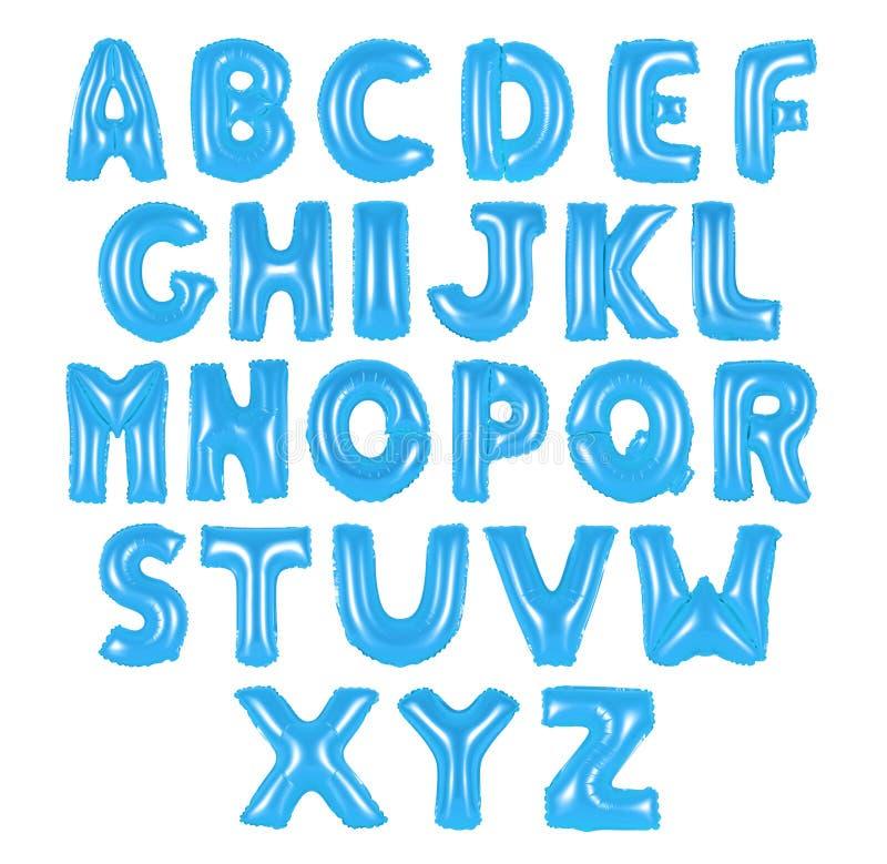 Cor do azul do alfabeto inglês imagens de stock royalty free