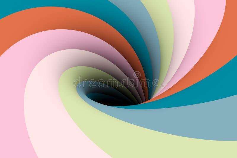 Cor do buraco negro ilustração stock