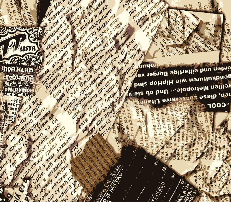 Cor do grunge do jornal ilustração stock