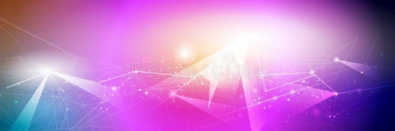 Cor do inclinação do projeto do quadro do metal para o backgroundd Conceito moderno da tecnologia digital do projeto do vetor ilustração do vetor