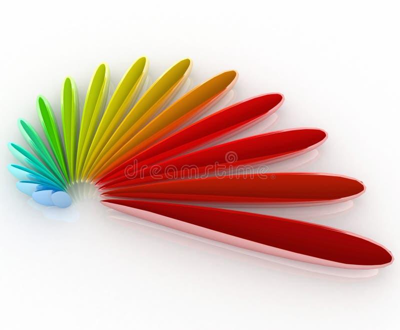 cor do logotipo 3D ilustração royalty free