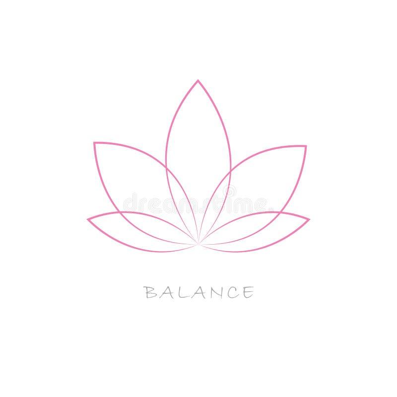 Cor do rosa da flor de Lotus ilustração royalty free