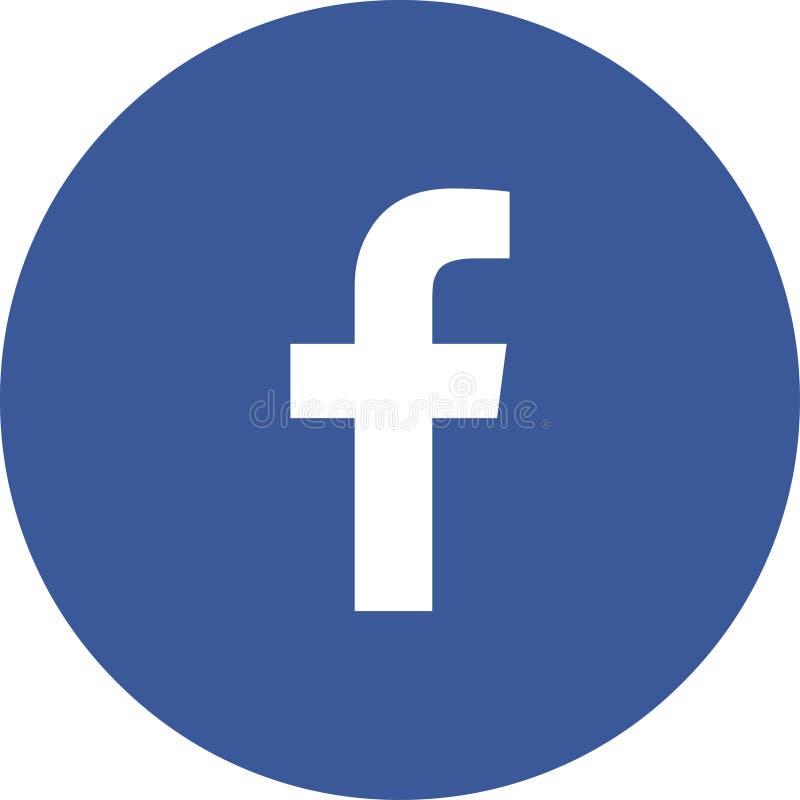 Cor do vetor do facebook do logotipo do ícone ilustração royalty free