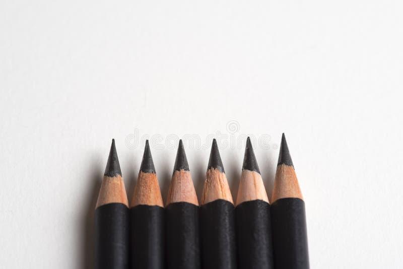 Cor dos lápis em seguido imagens de stock