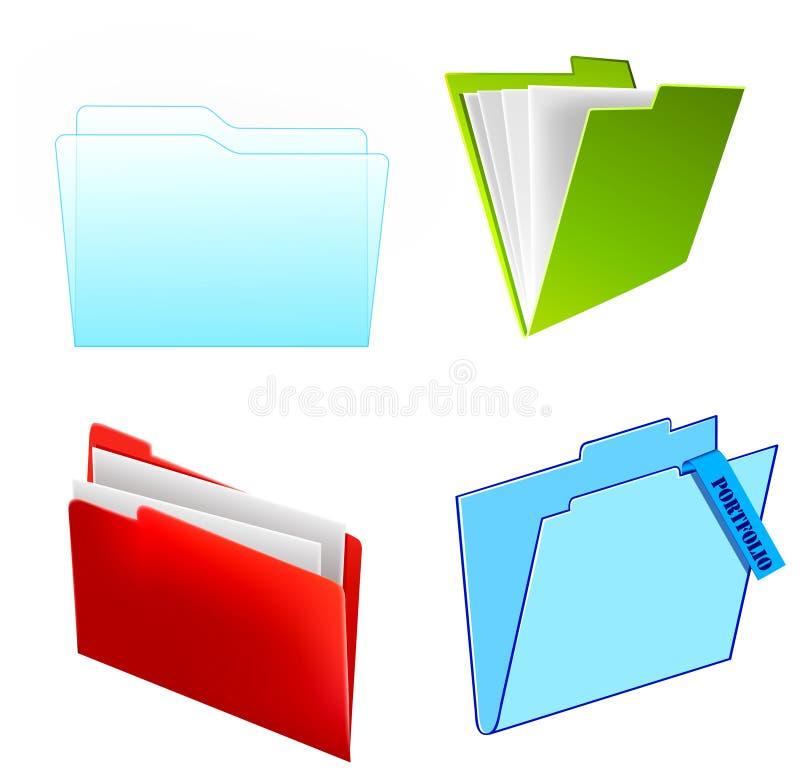 Download Cor E Forma Diferentes Dos Arquivos Ilustração do Vetor - Ilustração de conceito, portfolio: 16861829