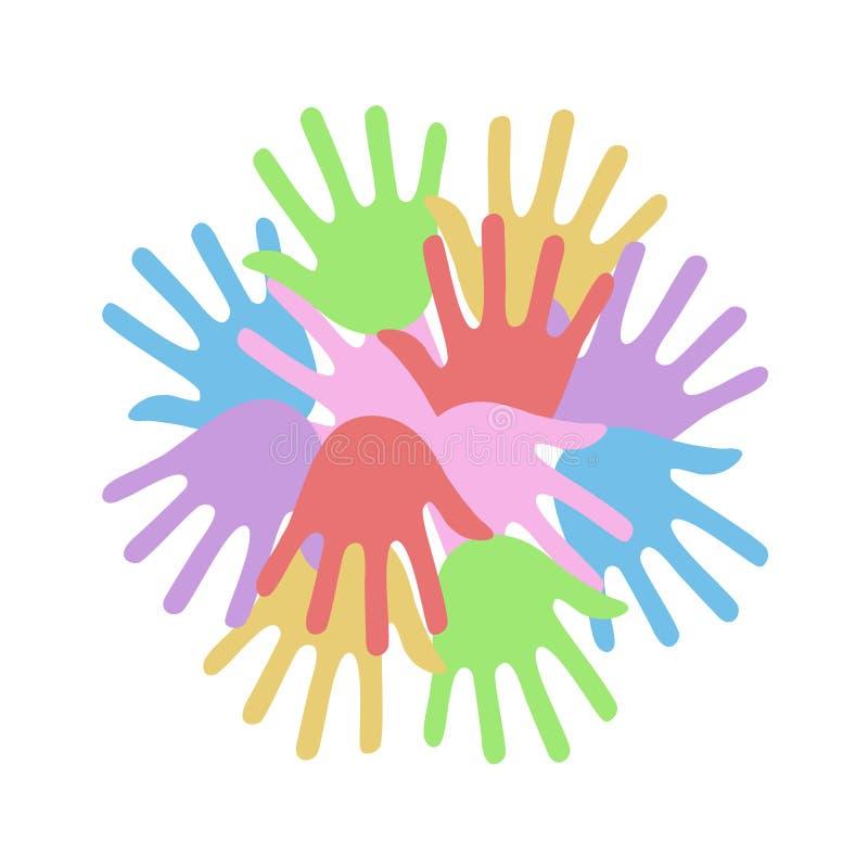 A cor entrega o símbolo ilustração do vetor