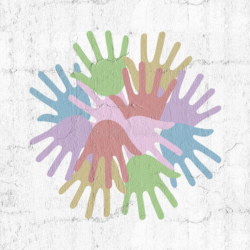 A cor entrega o símbolo ilustração royalty free