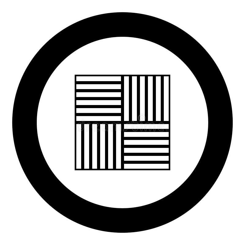 Cor estratificada do preto do ícone do revestimento no círculo ilustração stock
