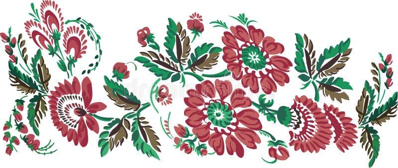 A cor floresce o ornamento fotos de stock