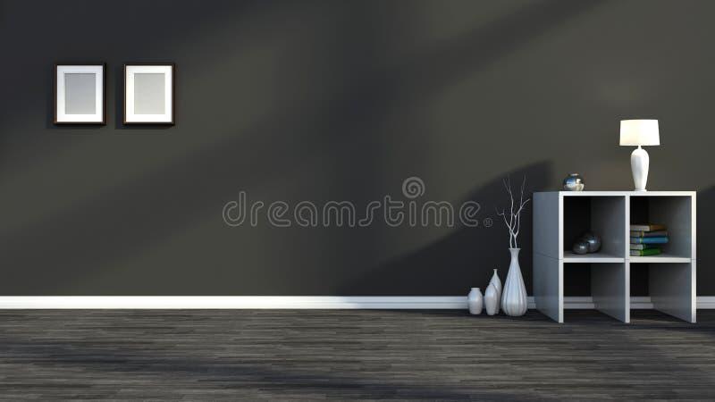 Cor interior preto e branco ilustração do vetor
