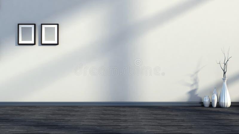 Cor interior preto e branco ilustração royalty free